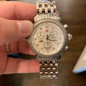Michele CSX Diamond Bezel Chronograph Watch